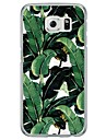 Green Leaf Tile Pattern Soft Ultra-thin TPU Back Cover For Samsung GalaxyS7 edge/S7/S6 edge/S6 edge plus/S6/S5/S4