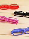 Glasses Design Blue Ink Ballpoint Pen Random Color