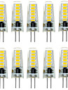 10PCS G4 12LED SMD5733 2W 200-300LM Warm White/White Decorative LED Bi-pin Lights DC12V