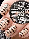 Newly BORN PRETTY BP76 Alphabet Theme Nail Art Stamping Template Image Plate