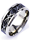 Men\'s Silver Alloy Band Ring