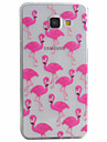 Crane Pattern Material TPU Phone Case For Samsung Galaxy A5(2016) A3(2016)