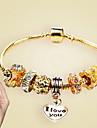 Bracelet Chaines & Bracelets Charmes pour Bracelets Alliage Forme de Coeur Coeur Mode Decontracte Regalos de Navidad Bijoux Cadeau Dore,1pc