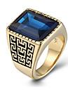 Homens Maxi anel Moda Vintage Personalizado bijuterias Gema Aco Titanio Joias Para Diario Casual Presentes de Natal