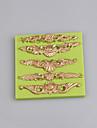 Forme de motif geometrique baroque forme de fondant de silicone forme de fleurs forme de gomme moules diy moules aleatoires