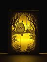 1шт Тоторо трехмерная резьба силуэт лампы свет спальни фото рамка лампы ночник