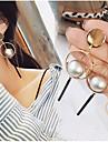 여성 드랍 귀걸이 링 귀걸이 매달려 귀걸이 보석류 의상 보석 골드 합금 보석류 제품 결혼식 파티 일상 캐쥬얼