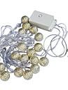 Jiawen 20-LED 5M warm white Christmas Holiday  Decoration  String Light (AC 110-220V)