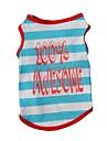 Gatos Perros Camiseta Chaleco Ropa para Perro Invierno Verano Primavera/Otono RayasAdorable Moda Casual/Diario Deportes Cumpleanos