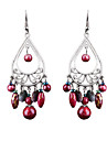 Europe And The United States Of Bohemia Fenghua Carving Exaggerated Alloy Tassel Earrings