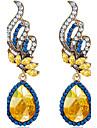 Imitation Saphir Forme Ovale Boucles d\'oreille goutte Bijoux Femme Mode Mariage Soiree Quotidien Decontracte Cristal Alliage Gemme 1 paire