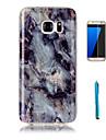 Pour Motif Coque Coque Arriere Coque Marbre Flexible PUT pour Samsung S7 edge S7 S6 edge S6 S5 S4