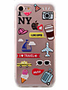 Pour iPhone X iPhone 8 iPhone 7 iPhone 6 Coque iPhone 5 Etuis coque Ultrafine Motif Coque Arriere Coque Bande dessinee Flexible PUT pour