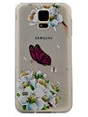 Pour samsung galaxy s7 s6 case cover white papillon pattern painting super soft tpu material