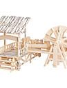 Quebra-cabecas Quebra-Cabecas de Madeira Blocos de construcao DIY Brinquedos Quadrangular / Moinho de vento 1 Madeira Ivory