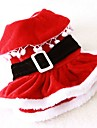 Cat / Dog Costume / Dress Red Dog Clothes Winter / Spring/Fall Solid Cute / Cosplay / Christmas
