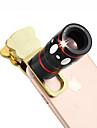 4 in 1 Universal Clamp Camera Lens(Telephoto Lens/Fisheye Lens/Wide Angle Lens/Macro Lens)