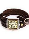 Mulheres Relogio de Moda Relogio de Pulso Bracele Relogio / Quartzo Couro Banda Vintage Boemio Bracelete Legal Casual Ivory