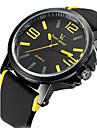 V6 남성 스포츠 시계 밀리터리 시계 드레스 시계 패션 시계 손목 시계 방수 석영 일본 쿼츠 실리콘 밴드 빈티지 멋진 캐쥬얼 블랙