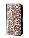 Для Кошелек / Бумажник для карт / Стразы / со стендом / Флип Кейс для Чехол Кейс для Сияние и блеск Твердый Искусственная кожа SamsungS7