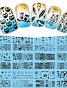 12 Designs/Set Water Transfer Nail Art Sticker Watermark Decals Flowers Cartoon Full Wraps DIY Tips BD01-12