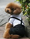 Dog Costume Tuxedo Black Dog Clothes Winter Spring/Fall Color Block Wedding Cosplay