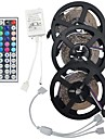 15M(3*5M) 3528 RGB 900 LEDs Strip Flexible Light LED Tape String Lights DC 12V 15W with 44Key IR Remote Controller Kit