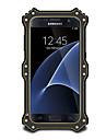 Para Agua / Dirt / a prova de choque Capinha Corpo Inteiro Capinha Cor Unica Rigida Metal para Samsung S7 edge / S7 / S6 edge / S6