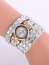 Damers Barn Modeklocka Armbandsur Armbandsklocka Quartz Färgglad Läder Band Vintage Glittriga Bohemisk Berlock Armring Fritid Eleganta