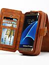 multi-funcional caso genuino carteira de couro portatil removivel para Samsung Galaxy S8 S4 S5 S6 borda mais borda s7
