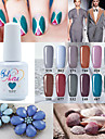 Nail Polish UV Gel  15ml 1picec Glitters UV Color Gel Soak off Long Lasting