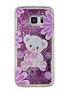 For Samsung Galaxy  S7 edge S7 S6 edge S6  S5 Case Toy Bear Pattern Quicksand Small Fresh Sand TPU Material Phone Case