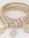 Femme Charmes pour Bracelets Strass Imitation de diamant Alliage Simple Style Mode Arc-en-ciel Bijoux 1set