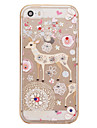 For Rhinestone / Plating / Frosted / Translucent / Pattern Case Back Cover Case Cartoon Deer Soft TPU for Apple iPhone 6 6s Plus SE 5S 5