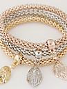 Женский Браслеты с подвесками Стразы Сплав Простой стиль Мода Радужный Бижутерия 1 комплект