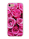 For iPhone 7 Plus 7 6 Plus 6S SE 5S 5 Case Cover Flower Pattern Back Cover Soft TPU