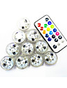 10Pcs Беспроводной Others Rgb 3Led Smd2835 Remote Controlled Water Proof Candle Lamp Разноцветный