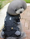 Dog Denim Jacket/Jeans Jacket Black Dog Clothes Winter / Spring/Fall Solid Fashion / Cowboy