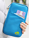 1 PC Travel Wallet Passport Holder & ID Holder Waterproof Dust Proof Portable Multi-function for Travel Storage Fabric-Black Red Green