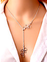 Necklace Pendant Necklaces Jewelry Party / Daily / Casual Leaf Adjustable Alloy / Silver Plated Women / Girls 1pc Gift Silver