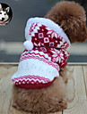 Cat / Dog Hoodie Red / Brown Dog Clothes Winter Snowflake Keep Warm