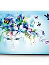 "Case for Macbook 13"" Macbook Air 11""/13"" Macbook Pro 13"" MacBook Pro 13"" with Retina display Flower Plastic Material Creative Flower Girl Pattern"