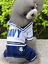 Dog Costume Clothes/Jumpsuit Dog Clothes Fashion Cosplay Sailor Dark Blue