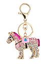 The New Horse Hot Fashion Handbag Purse Key Chain Ma Car Set Auger Key Ring Clasp Pendant Gift