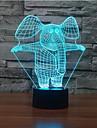 слон прикасаться затемнением 3D LED ночь свет 7colorful украшения атмосфера новизны светильника освещения свет рождества