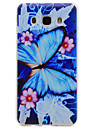 For Samsung Galaxy J710 J510 J310 Blue Butterfly Pattern TPU High Purity Translucent Soft Phone Case G530 G360 One7 One5 J3