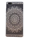 For Huawei Case / P8 Lite Transparent Case Back Cover Case Mandala Hard PC Huawei Huawei P8 Lite