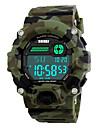 SKMEI Masculino Relogio Esportivo Relogio Militar Relogio de Pulso LED Calendario Cronografo Impermeavel alarme Cronometro Noctilucente