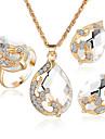 Bijoux 1 Collier / 1 Paire de Boucles d\'Oreille / Anneaux / 1 paquet Diamant / Saphir / Emeraude / Cristal Mariage / SoireeCristal /