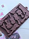 10 отверстий форма гитара торт лед желе Формы для шоколада, силиконовая 15 × 14,5 × 1,5 см (6,0 × 5,8 × 0,6 дюйма)